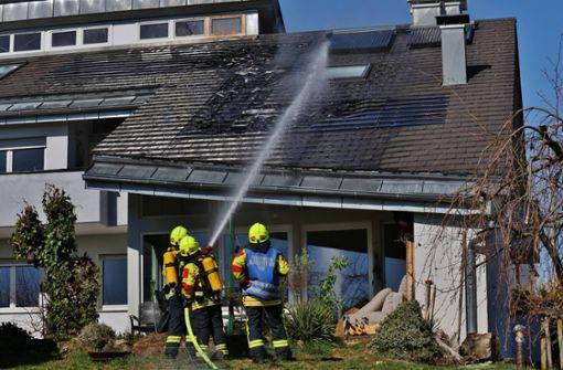 Fotovoltaikanlage fängt Feuer