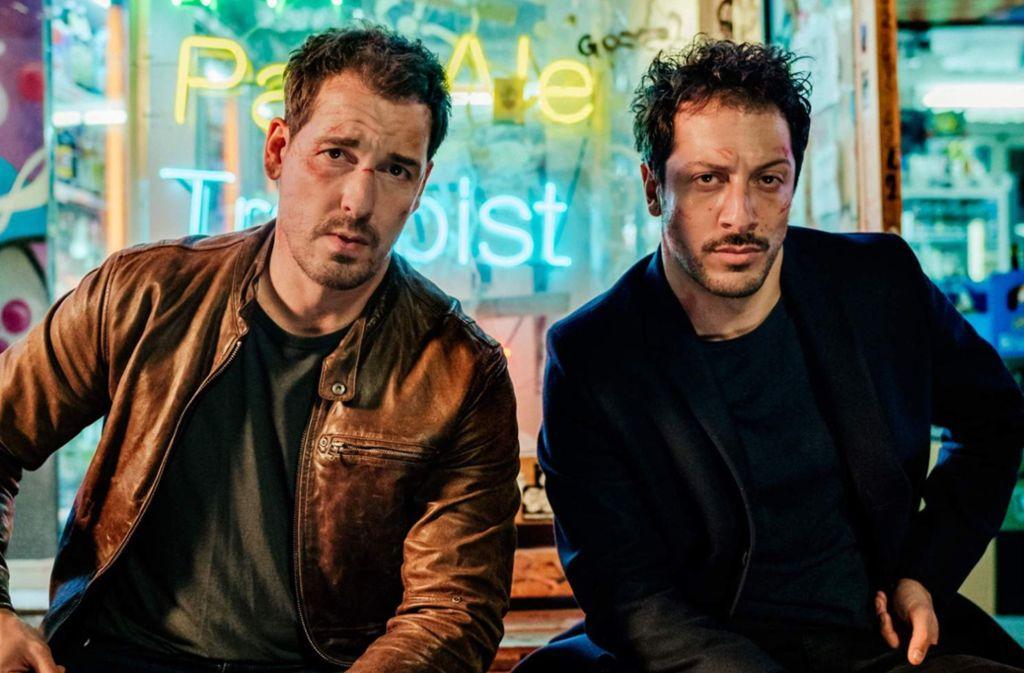 Ein ungleiches Polizistenpaar: Felix Kramer (links) und Fahri Yardim Foto: Netflix