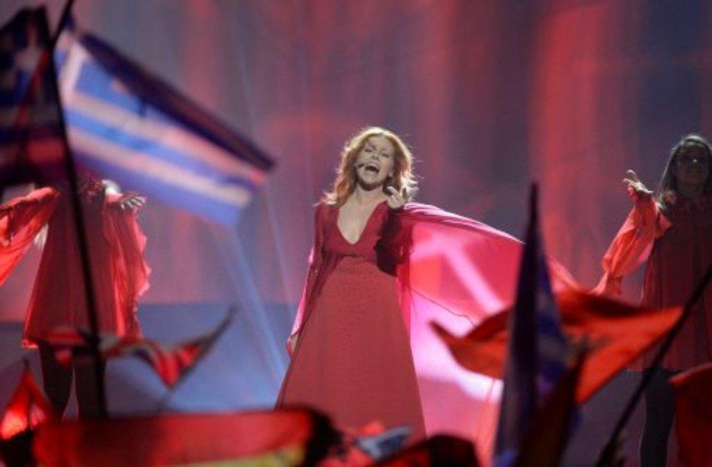 Valentina Monetta (San Marino) scheiterte mit einer Komposition von Ralph Siegel im Halbfinale. Foto: dpa
