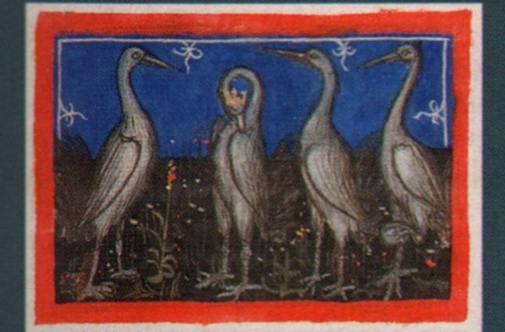 """Miniatur aus """"Il Fiore di Virtú"""", einem Benimmbuch für hohe städtische Beamte (1340), das  für 780 000 Euro auf der Messe zu kaufen ist. Foto: Katalog"""