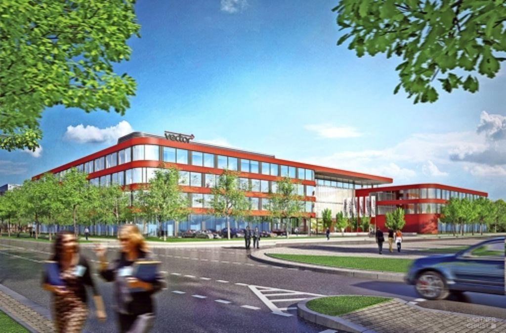 Optisch soll das neue Verwaltungsgebäude Foto: Vector