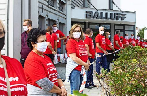Solidaritätskette für den Erhalt von 240 Arbeitsplätzen
