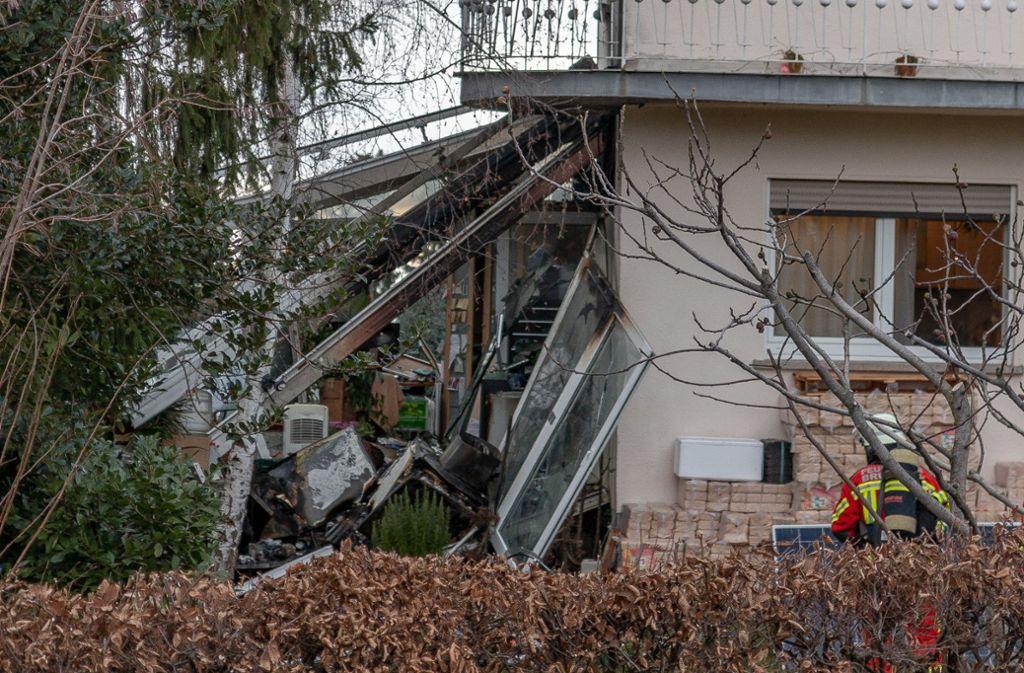 Der Schaden nach der Explosion in Bruchsal ist immens. Foto: dpa/Aaron Klewer
