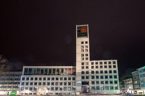 Stuttgart versinkt in der Dunkelheit