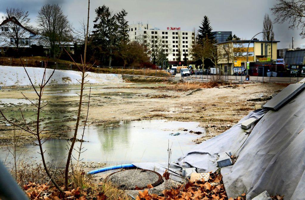 Das Gelände an der Mahdentalstraße liegt seit Jahren brach. Kritiker der Neubaupläne von Lidl haben es künftig schwer. Foto: factum/Granville