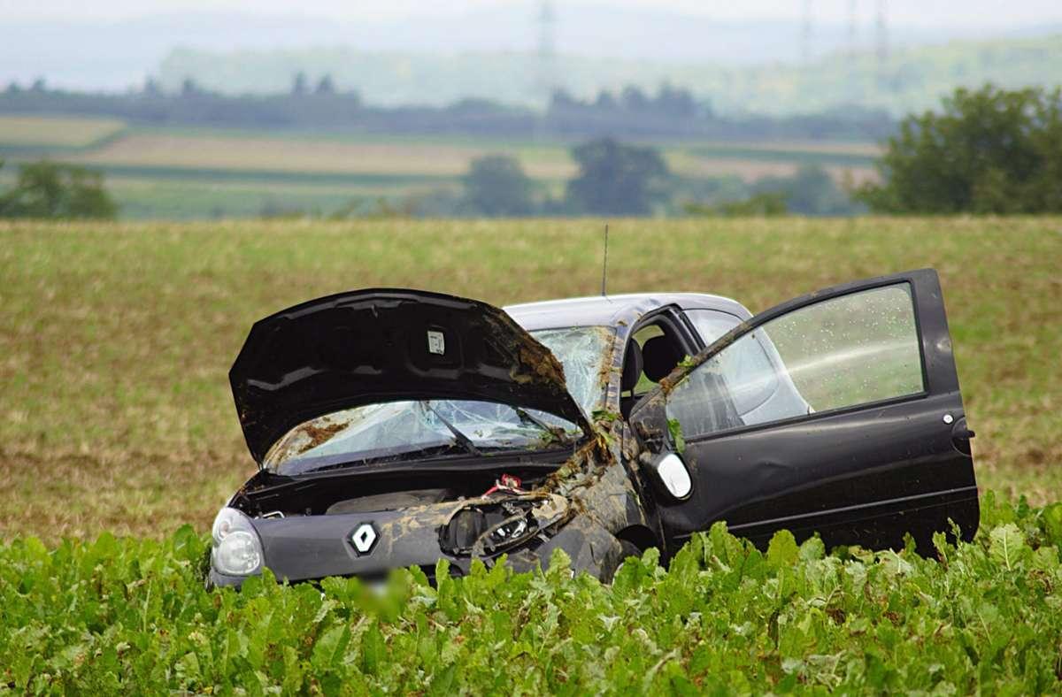 Bei Walheim hat sich am Montag ein schwerer Unfall ereignet. Foto: 7aktuell.de/ Hessenauer/7aktuell.de   Hessenauer