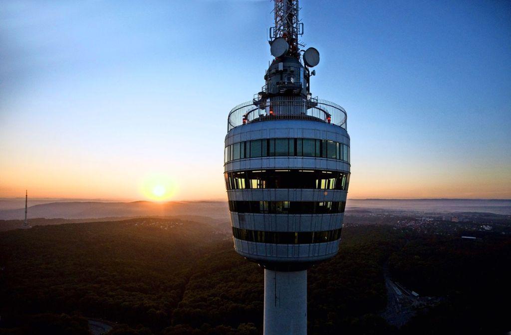 Vom Fernsehturm aus werden nach wie vor Radiosendungen ausgestrahlt, Fernsehen seit 2006 nicht mehr. Foto: SWR Media Services GmbH/ Achim Mende