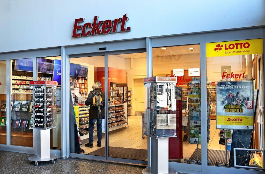 Wenn das Reisezentrum im Juni schließt, springt das Buch- und Pressefachgeschäft Eckert ein. Foto: Horst Rudel
