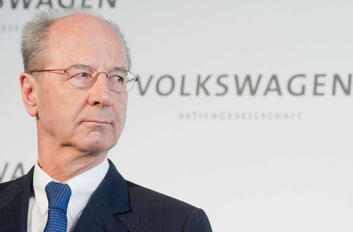 Vorstandschef Hans Dieter Pötsch. Foto: dpa/Julian Stratenschulte