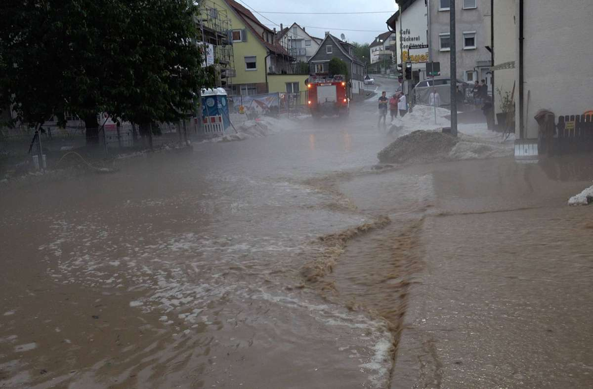 Schwere Unwetter im Kreis Reutlingen Foto: 7aktuell.de/Alexander Hald