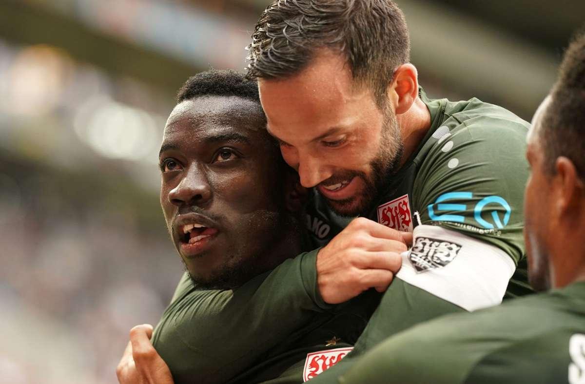 Der VfB Stuttgart holte gegen den FSV Mainz 05 den ersten Dreier der Saison. Foto: dpa/Thomas Frey