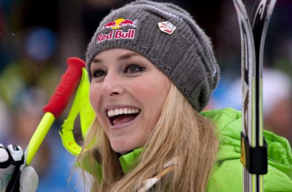 Das Lächeln fiel ihr lange Zeit schwer: Ski-Ass Lindsey Vonn war psychisch angeschlagen. Foto: dapd