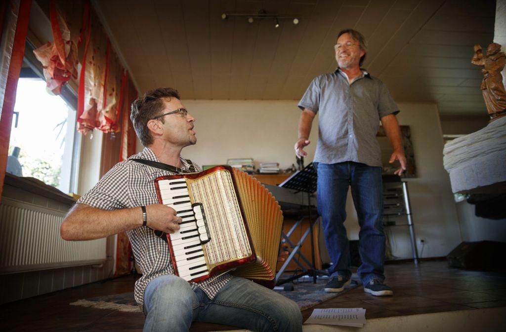Christoph Jäger (links) und sein Musikerfreund Sepp Steinkogler Foto: Stoppel-Archiv