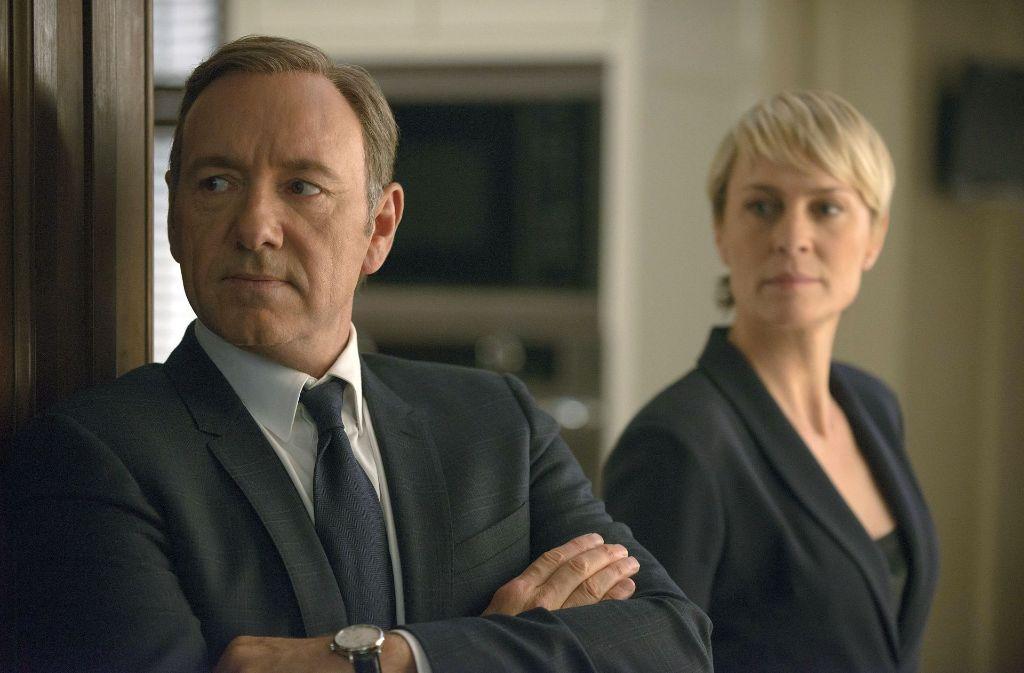 Lust auf Macht: Frank Underwood (Kevin Spacey) mit Frau Claire (Robin Wright) Foto: Netflix