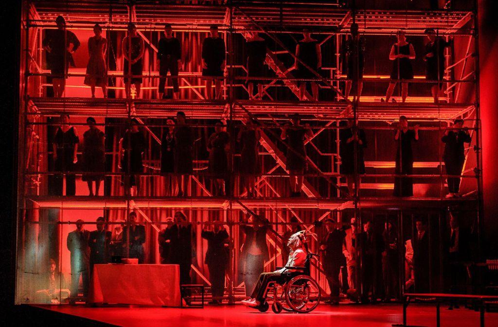 Szene aus der diesjährigen Open-Air-Produktion der Opernfestspiele Heidenheim Foto: Oliver Vogel