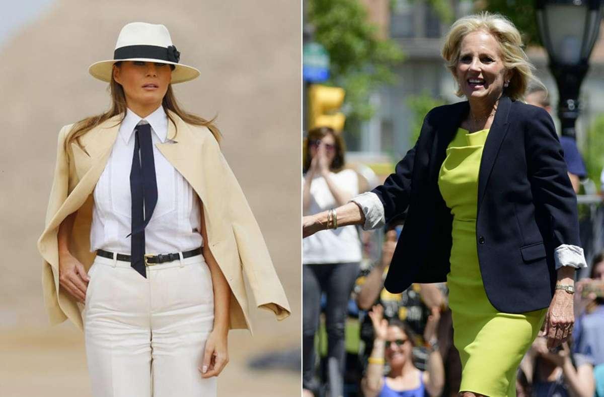 Melania Trump (links) ist eine zögerliche First Lady – welchen Stempel würde Jill Biden der Rolle aufdrücken? Foto: dpa/Imago/Zuma Press