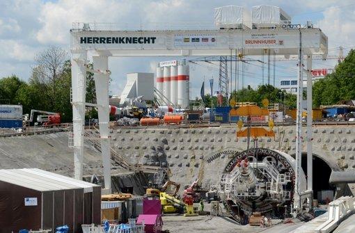 Im Juli wurde der im Bau befindliche Stuttgart-21-Fildertunnel getauft, er soll den Stuttgarter Hauptbahnhof mit den Fildern verbinden. Foto: dpa