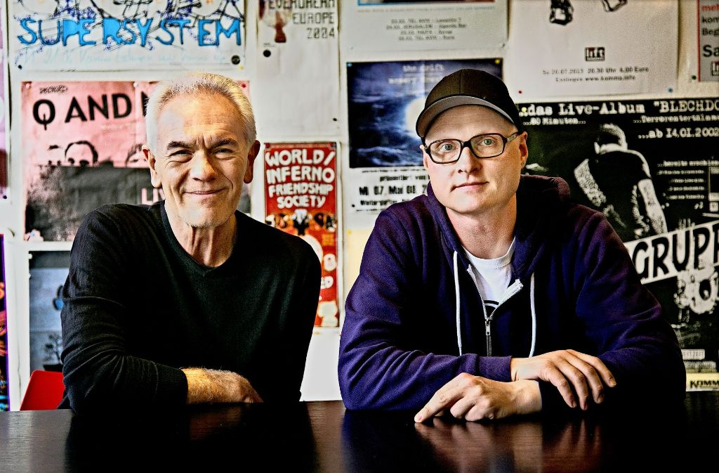 Andreas Jacobson (li.) und Jörg Freitag leiten das Jugend- und Kulturhaus Komma Foto: Ines Rudel