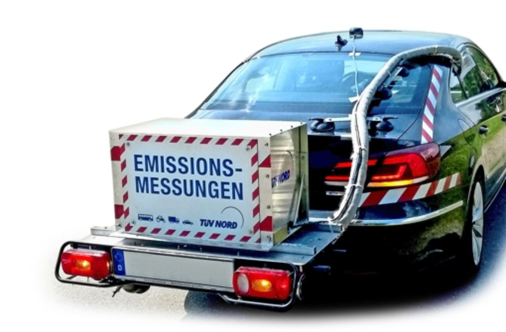 Eines der drei versuchsfahrzeuge mit mobilem Stickoxid-Messsystem Foto: TÜV Nord/LUBW
