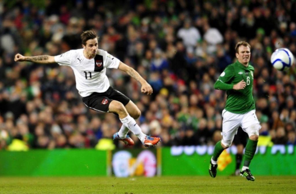Erfolgserlebnis gegen Irland: Martin Harnik erzielt ein Tor. Foto: dpa
