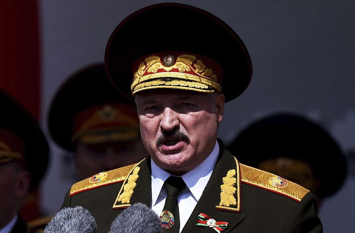 Neuwahlen wird es laut Alexander Lukaschenko nicht geben. (Archivbild) Foto: dpa/Sergei Gapon