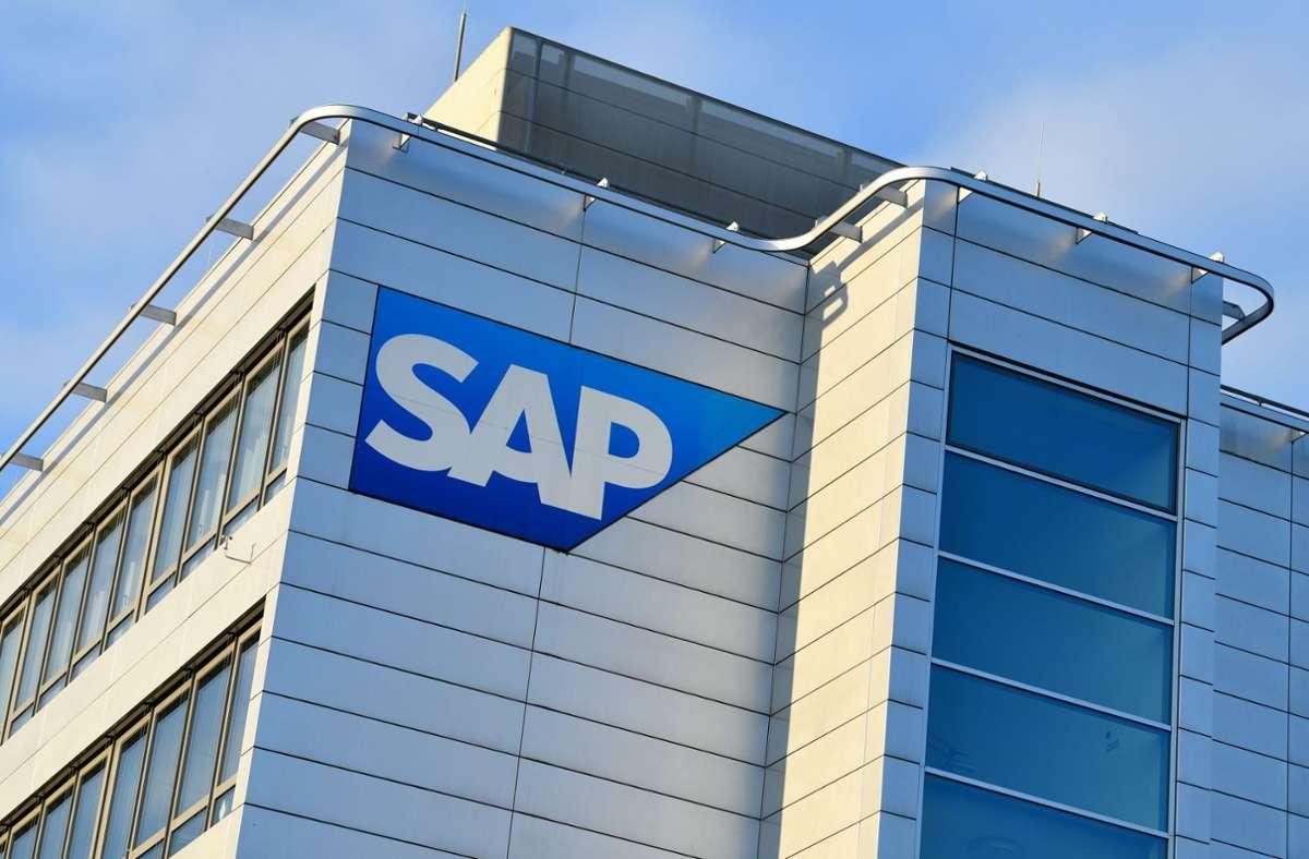 Softwareunternehmen SAP aus Baden-Württemberg. (Archivbild) Foto: dpa/Uwe Anspach