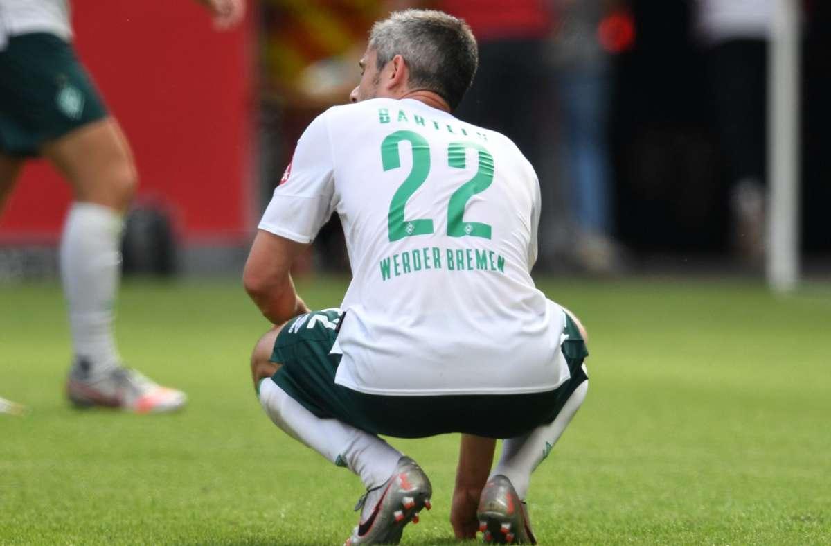 Fin Bartels und der SV Werder Bremen: Die Hoffnung schwindet mehr und mehr. Foto: dpa/Arne Dedert