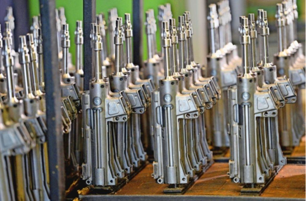 Bis zu 50000  Gewehre kann Heckler & Koch  am Stammsitz in Oberndorf  pro Jahr herstellen. Foto: dpa