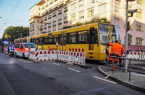 Nächster Stadtbahn-Unfall in der Neckarstraße