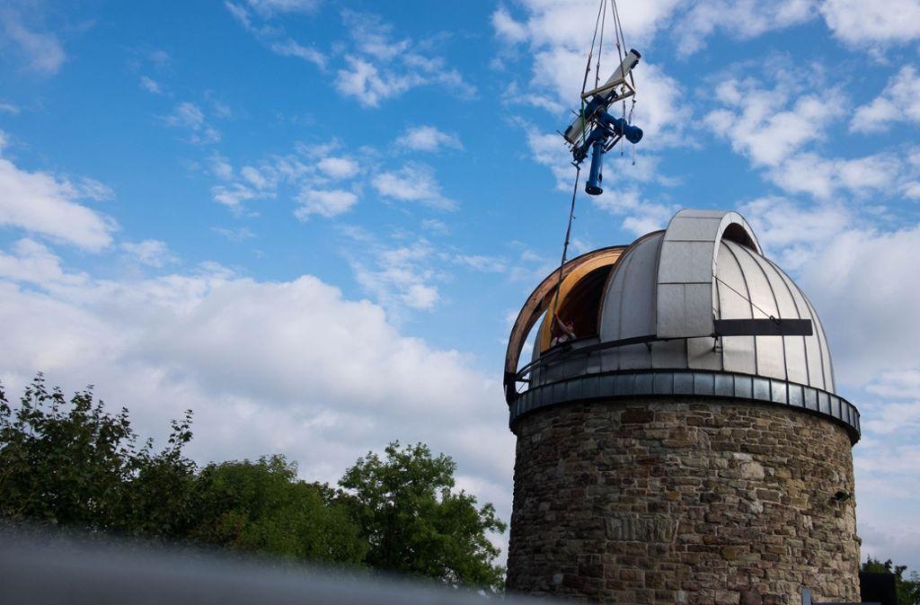 Die Rükkkehr des Teleskops vor einem Jahr: Auch die Sternwarte macht bei der Stuttgart-Nacht mit. Foto: Lichtgut/Max Kovalenko