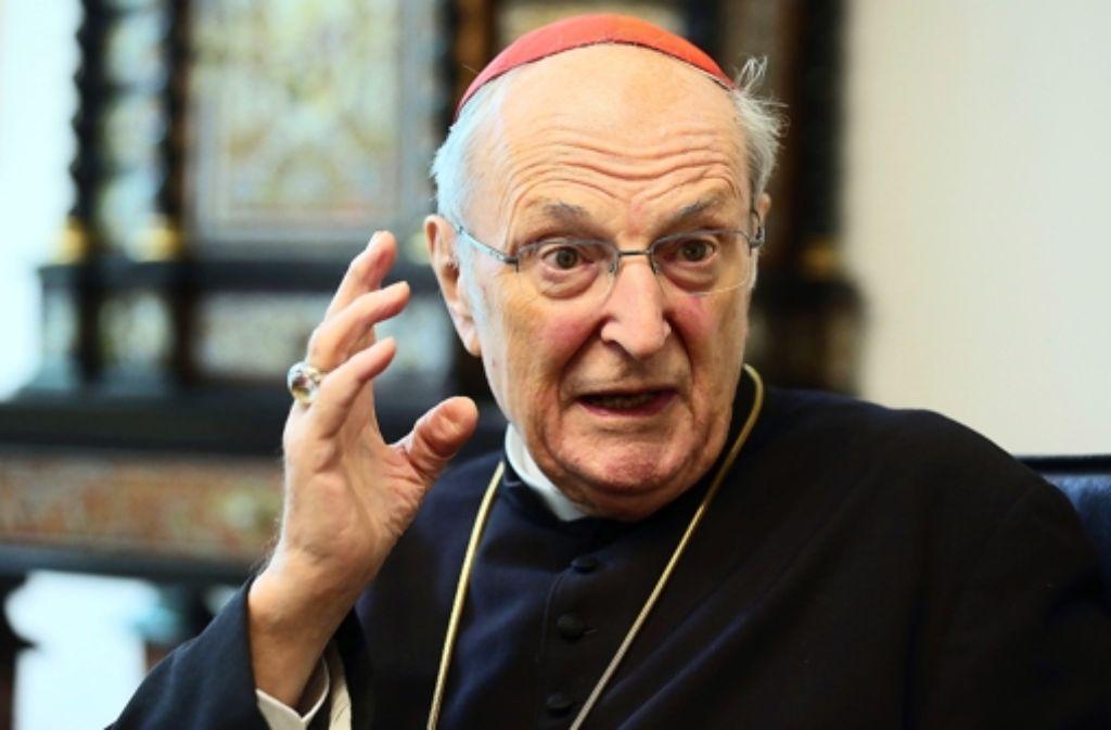 """""""Abtreibung ist Selbsttötung der Gesellschaft"""", sagte der Kölner Kardinal Meisner. Foto: dpa"""