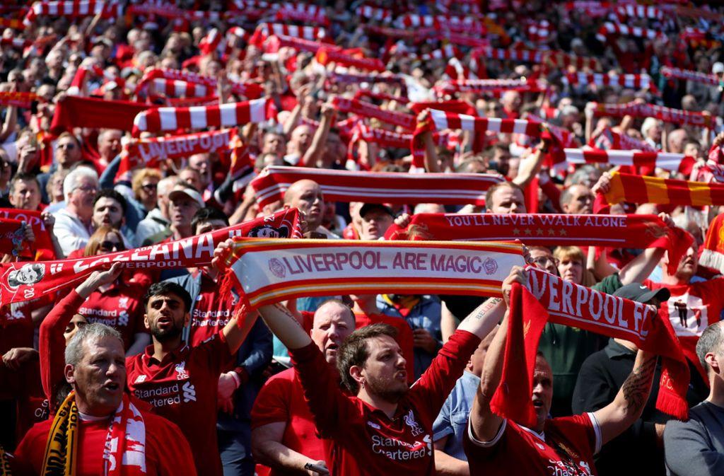 Bald geht's für die Fans des FC Liverpool nach Madrid – zum Finale der Champions League. Foto: Getty