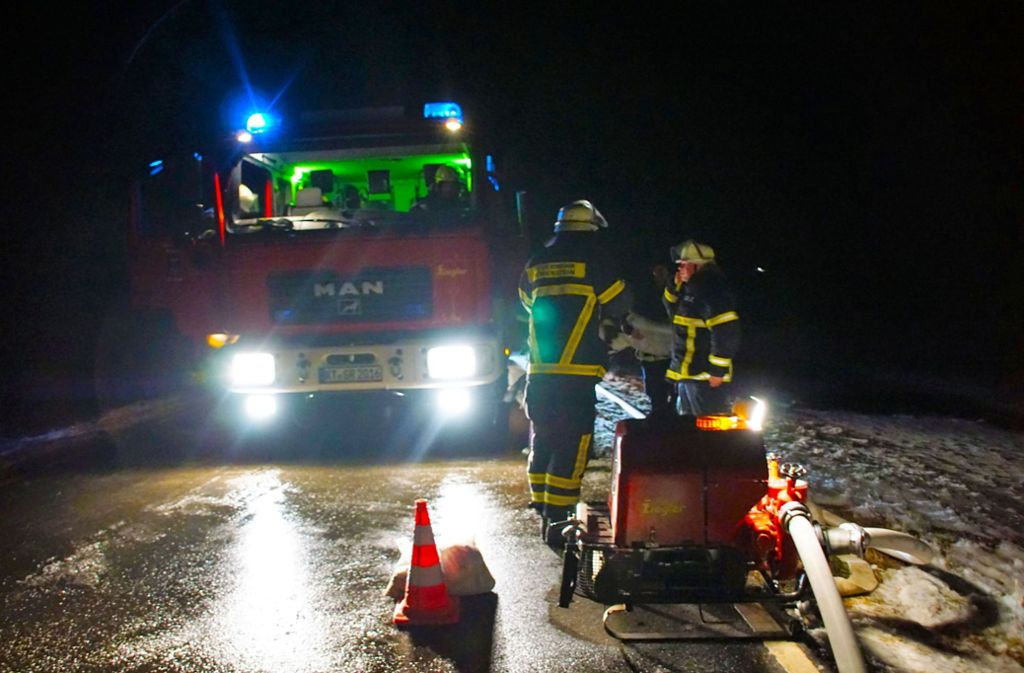 Die Feuerwehr hat nach einem Rohrbruch mithilfe eines kilometerlangen Wasserschlauchs Hunderte Tiere in Baden-Württemberg vor dem Verdursten gerettet. Foto: SDMG