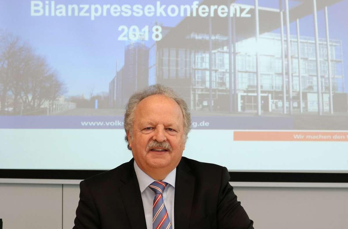 Ein Bild aus vergangenen Zeiten: Karlheinz Unger 2018, als er die Volksbank Ludwigsburg noch führte. Foto: privat/privat