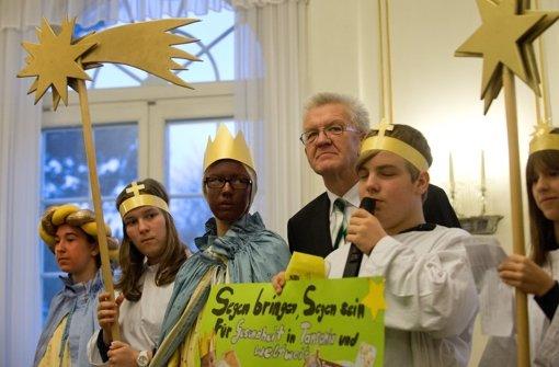 Kretschmann empfängt Sternsinger