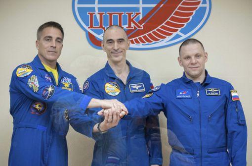 Drei Raumfahrer starten zur ISS