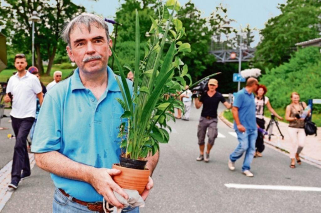 Im August 2013 verlässt Gustl Mollath das Bezirkskrankenhaus Bayreuth. Foto: dpa