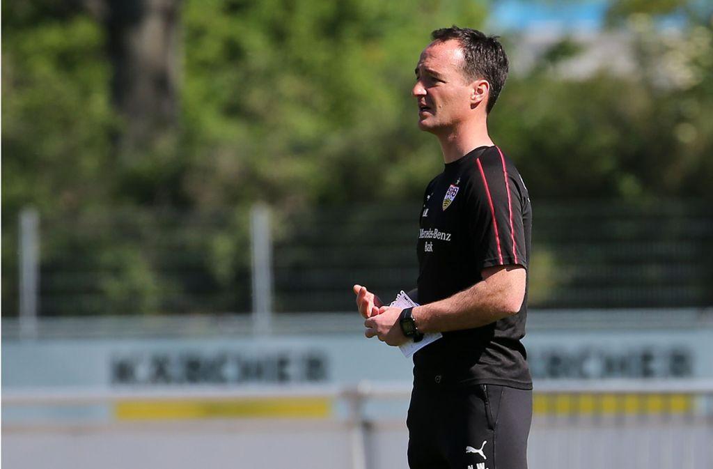 Nico Willig fungiert bis Saisonende als Interimstrainer beim VfB Stuttgart. Foto: Baumann