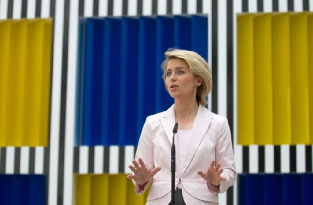 Selbstbewusste Arbeitsministerin: Ursula von der Leyen Foto: dpa