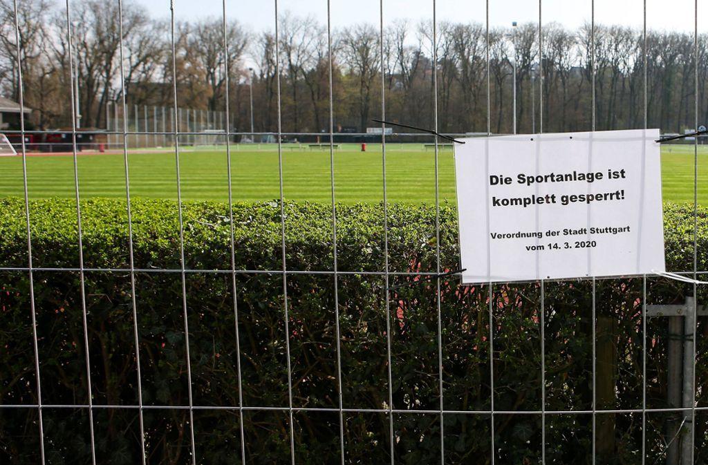 Nicht nur beim MTV Stuttgart ruht noch immer der Sportbetrieb. Foto: