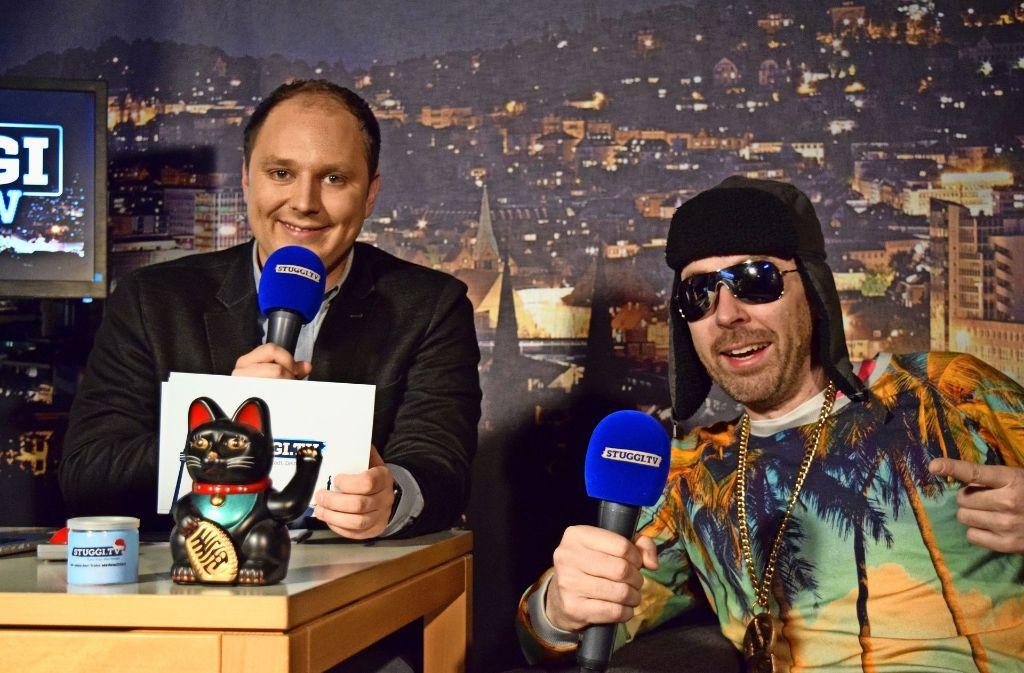 Stuggi.TV-Chef David Rau  (li.) mit Schwaben-Rapper MC Bruddaal. Foto: Stuggi.TV