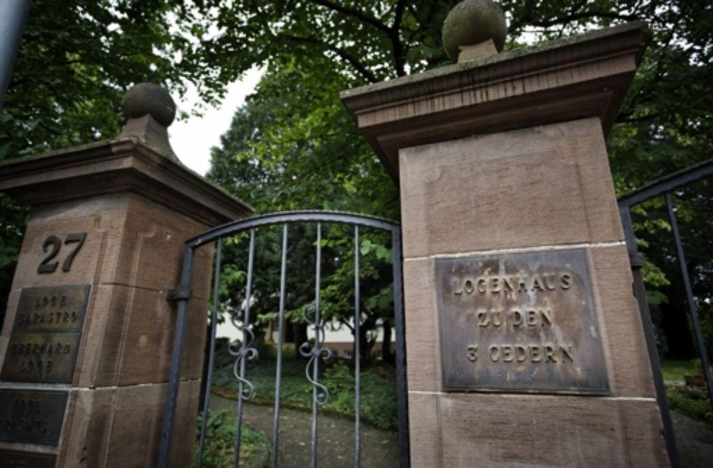 Eingang zum Logenhaus der 3 Cedern in Stuttgart Foto: Heinz Heiss