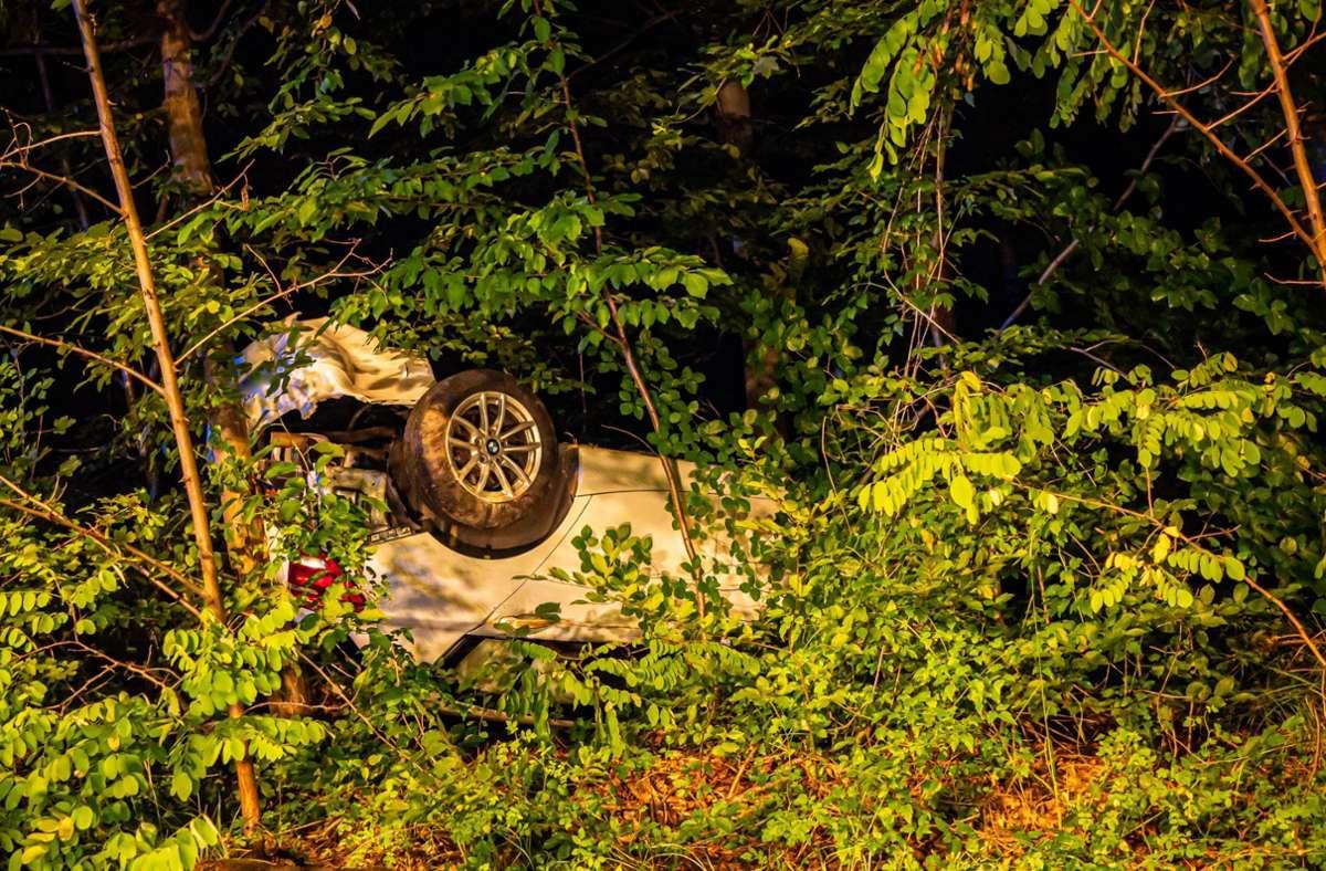 Schwere Unfall im Stuttgarter Süden: Eine 59-Jährige hat sich mit ihrem Wagen überschlagen. Foto: 7aktuell.de/Alexander Hald/7aktuell.de | Alexander Hald
