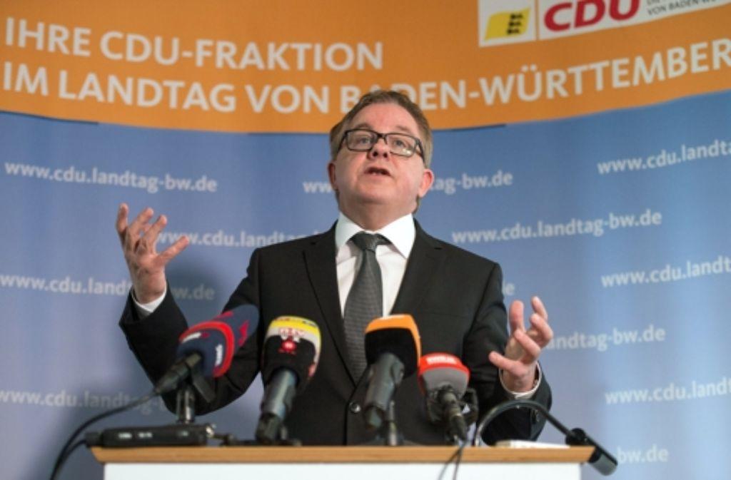 Der CDU-Landtagsfraktionsvorsitzende Guido Wolf Foto: dpa