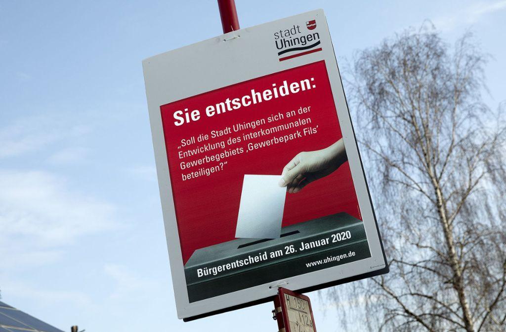 Die Frage beim Bürgerentscheid ist eindeutig  mit Nein beantwortet worden. Foto: Horst Rudel