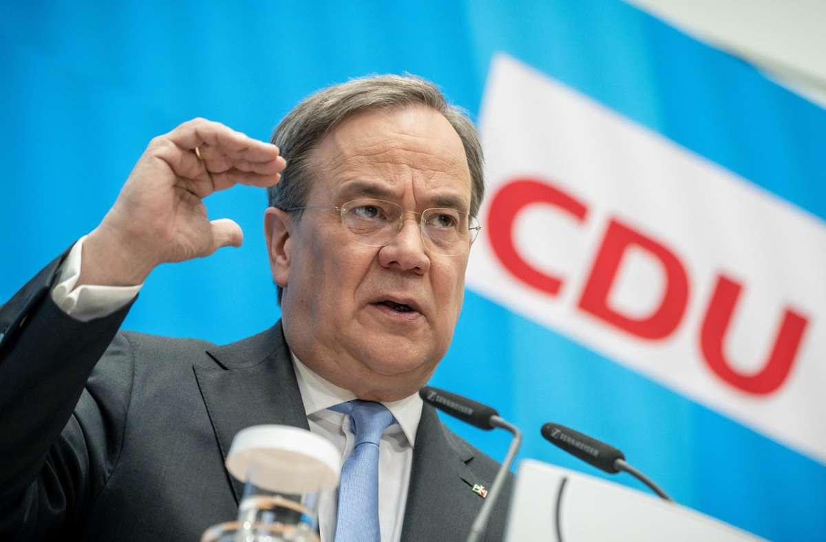 CDU-Chef Armin Laschet setzt auf Klimaschutz. Foto: dpa/Michael Kappeler