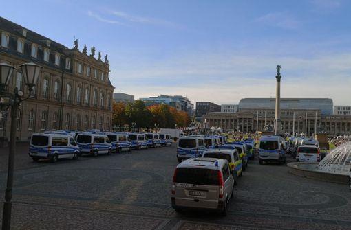 Großaufgebot der Polizei in der Innenstadt