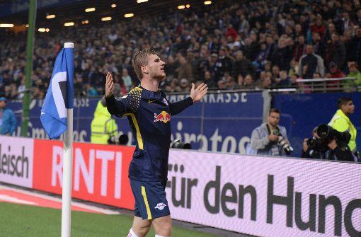 Überflieger Werner führt Leipzig zum 2:0 gegen HSV
