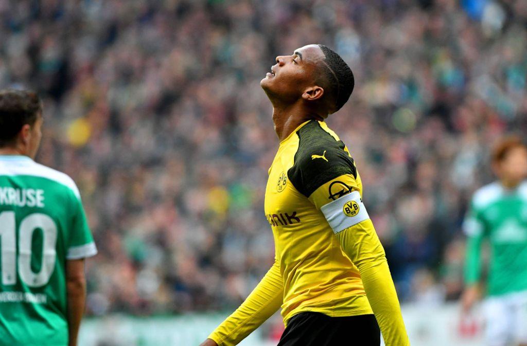 Borussia Dortmund kam nicht über ein Unentschieden gegen Werder Bremen hinaus. Foto: AFP