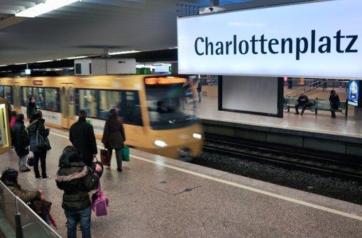 Die U1 und  die U2 werden mehrere Monate lang nicht zwischen den Haltestellen Staatsgalerie und Charlottenplatz verkehren können. Foto: Archiv